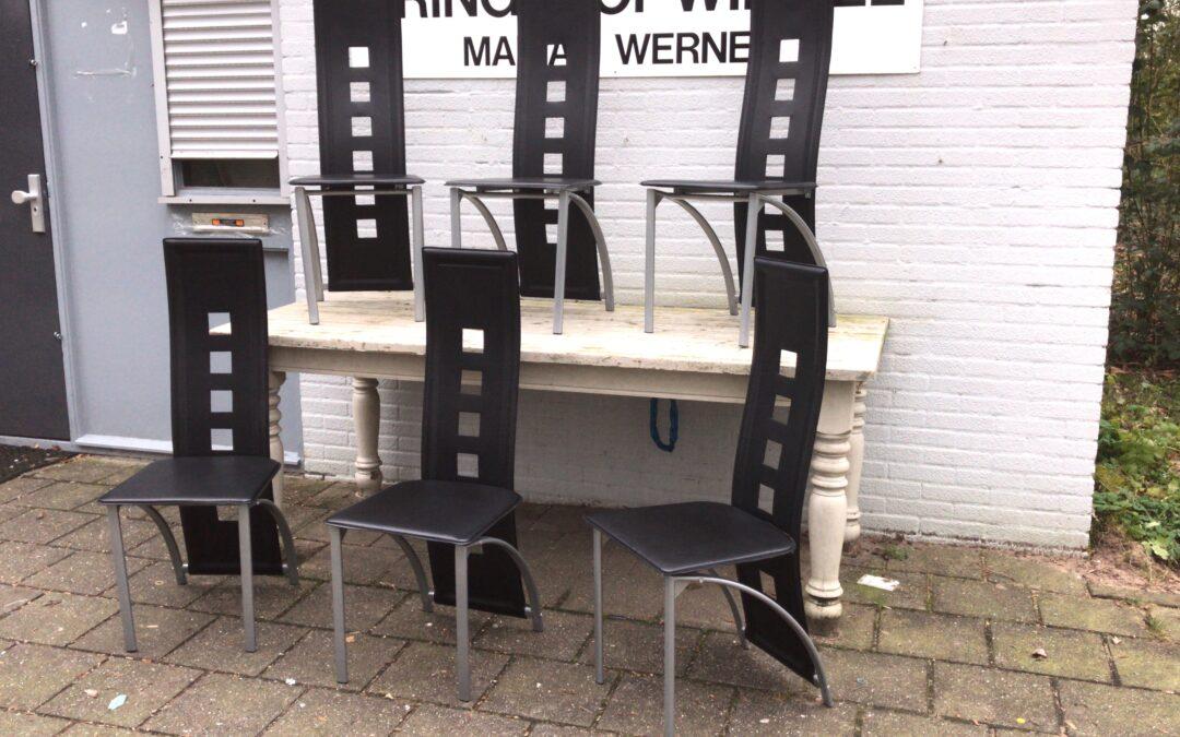 6 moderne eetkamer stoelen